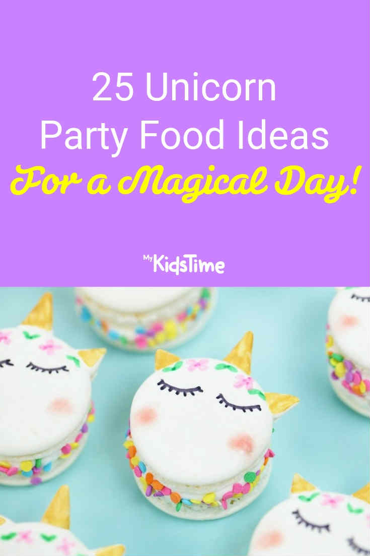 25 Unicorn party food Ideas - Mykidstime