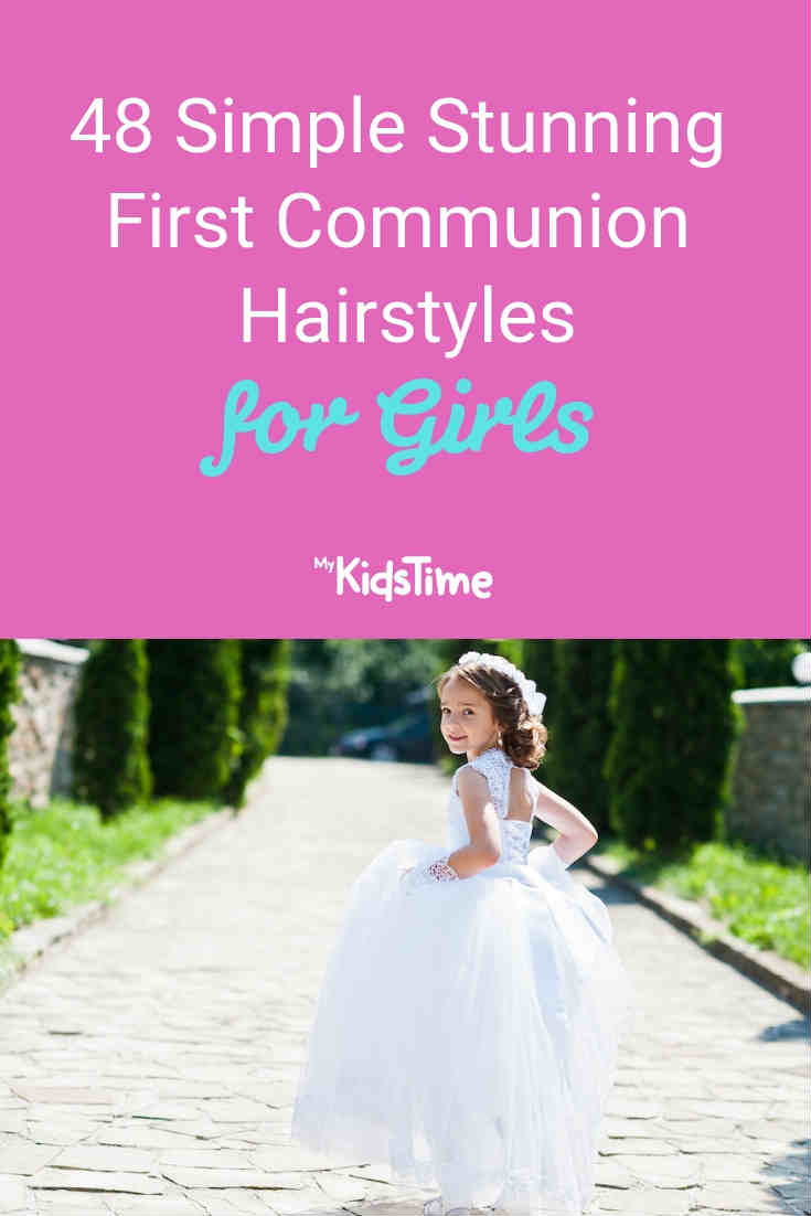 48 Stunning First Communion Hairstyles - Mykidstime