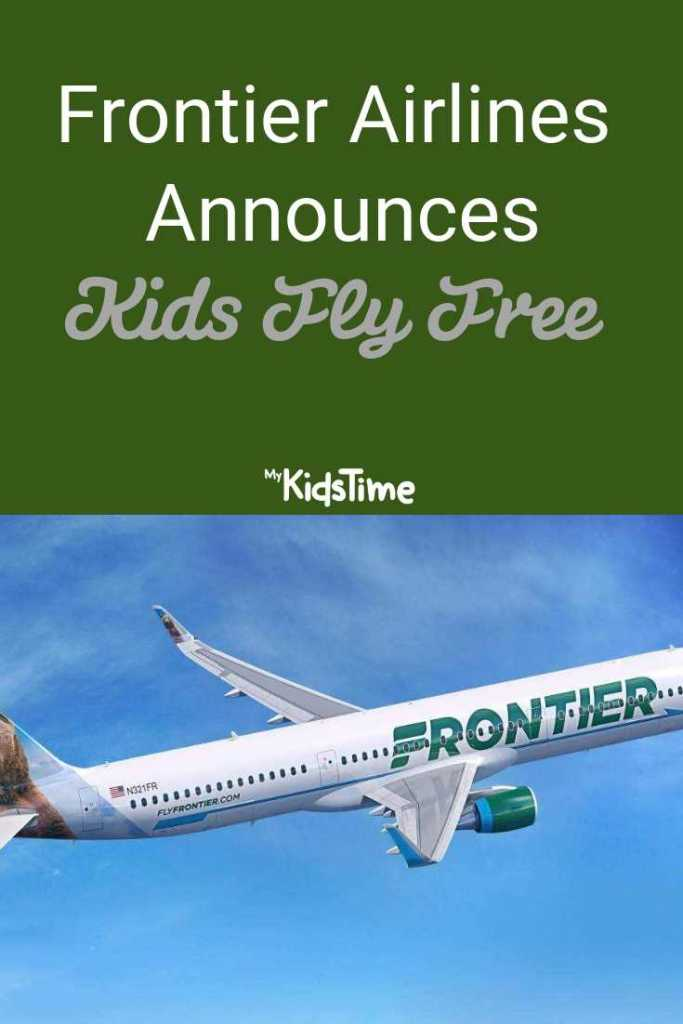 Frontier Airlines Announces Kids Fly Free