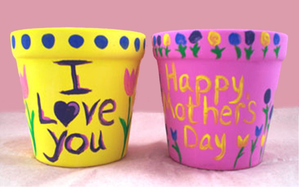Mother's Day Crafts flower pots