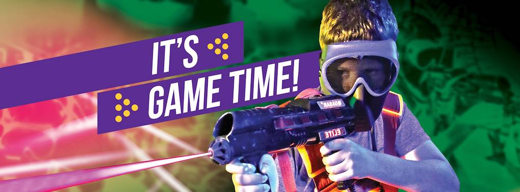 Its game time quasar at Leisureplex fun things to do with kids