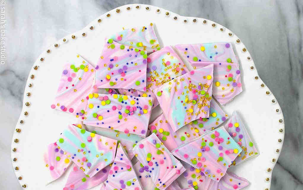 Unicorn Bark - Sarah's Bake Studio - Mykidstime unicorn party food