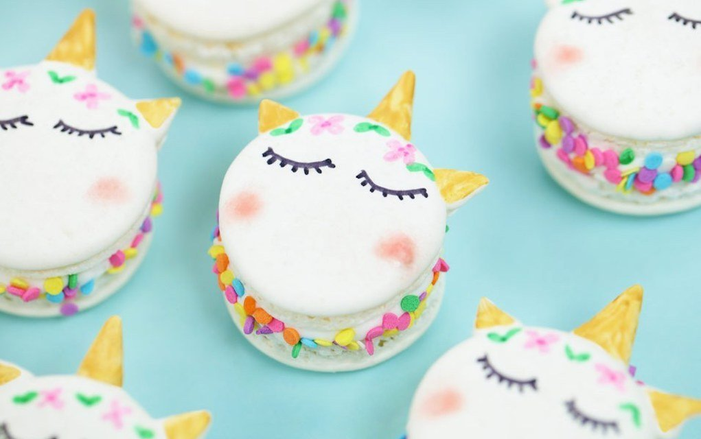 Unicorn Macarons - Rosanna Pansino - Mykidstime unicorn party food