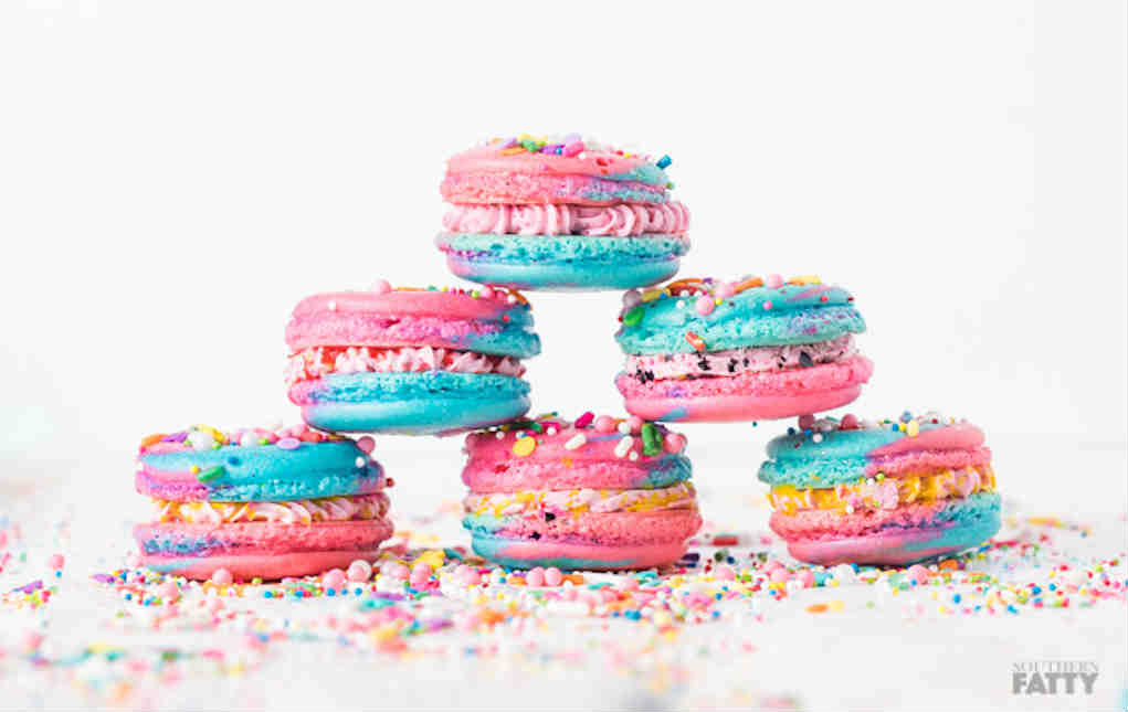 Unicorn Macarons - Southern Fatty - Mykidstime unicorn party food