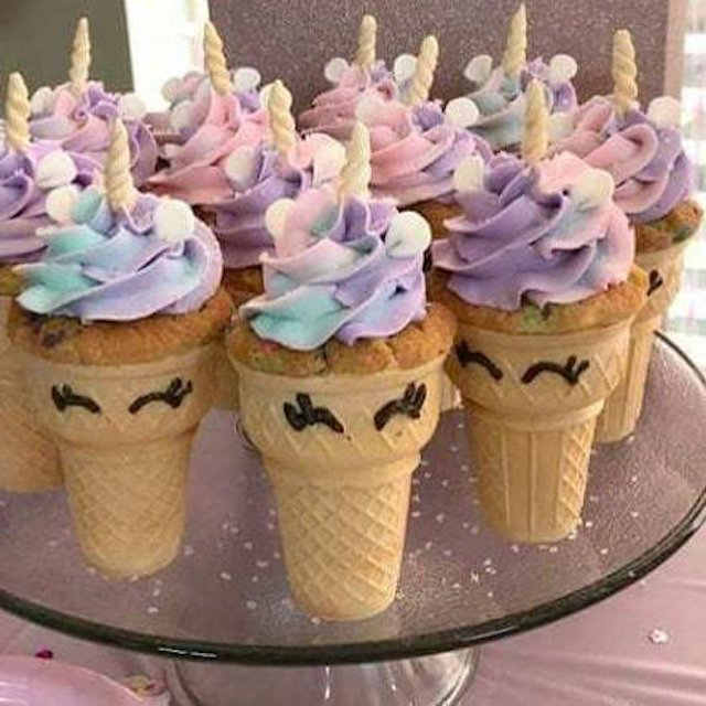 Unicorn cake cones - My Heavenly Recipes - Mykidstime unicorn party food