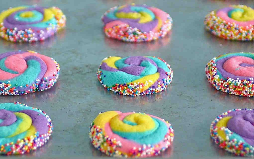 Unicorn pinwheel cookies - Deliciously declassified - Mykidstime unicorn party food