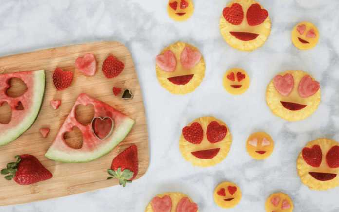 Valentines treats fruit emoji