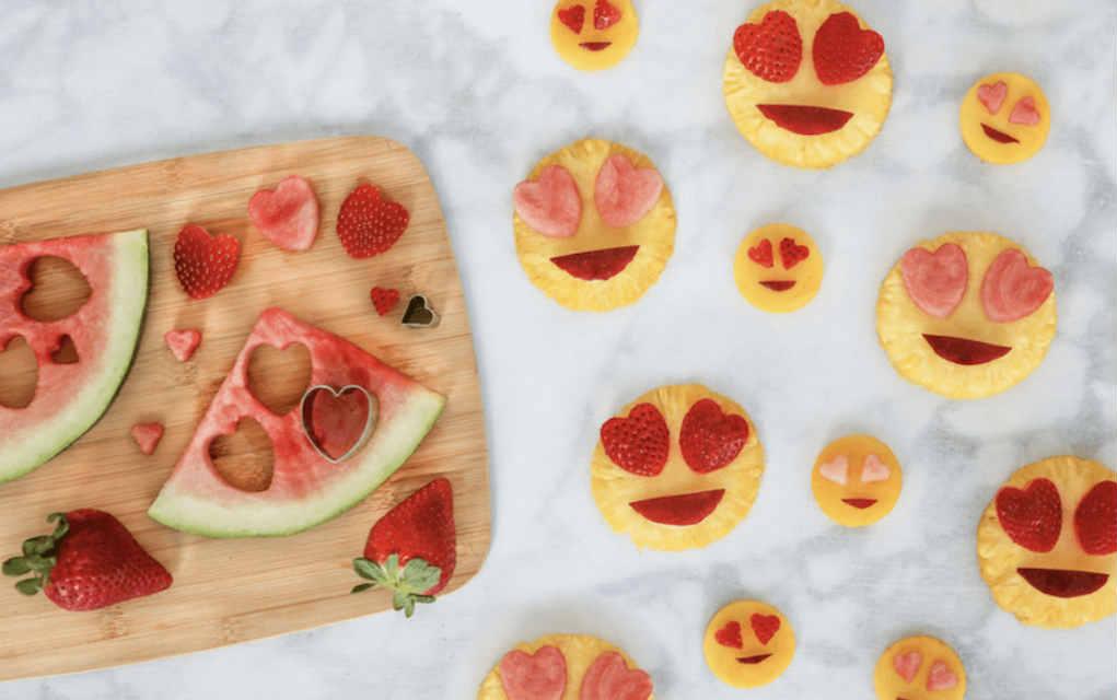 Valentines treats fruit emoji