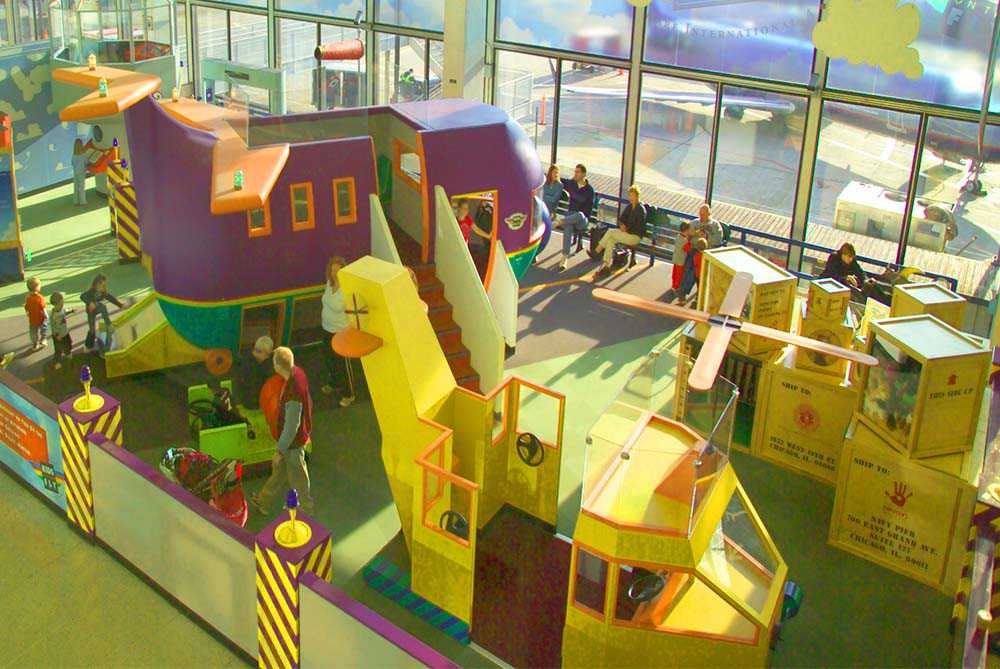 play area at airport