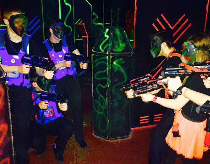 kids playing Quasar at Leisureplex things to do with kids