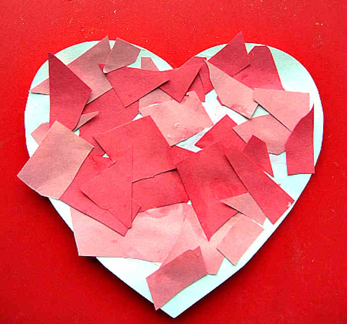 mosaic valentine heart for Valentine Crafts for Toddlers