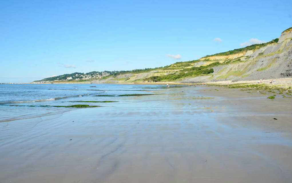 Charmouth for best beaches in UK - Mykidstime