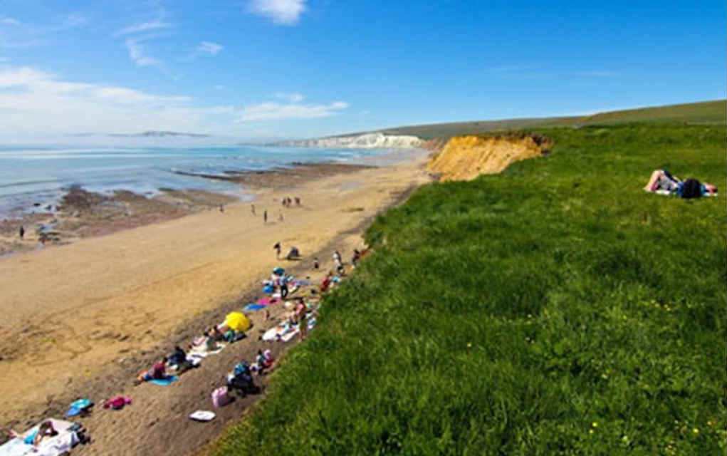 Compton Bay for best beaches in UK - Mykidstime