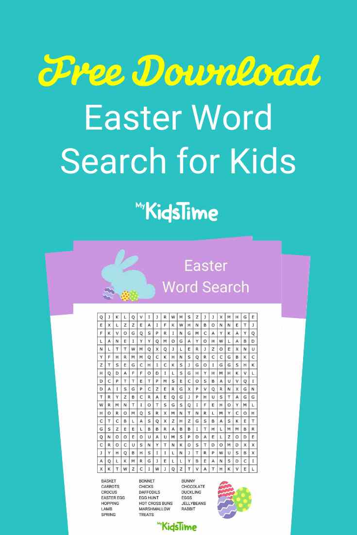 Easter word search - Mykidstime (2)