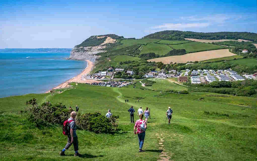 Jurassic Coast Golden Cap for fun family walks in the UK - Mykidstime