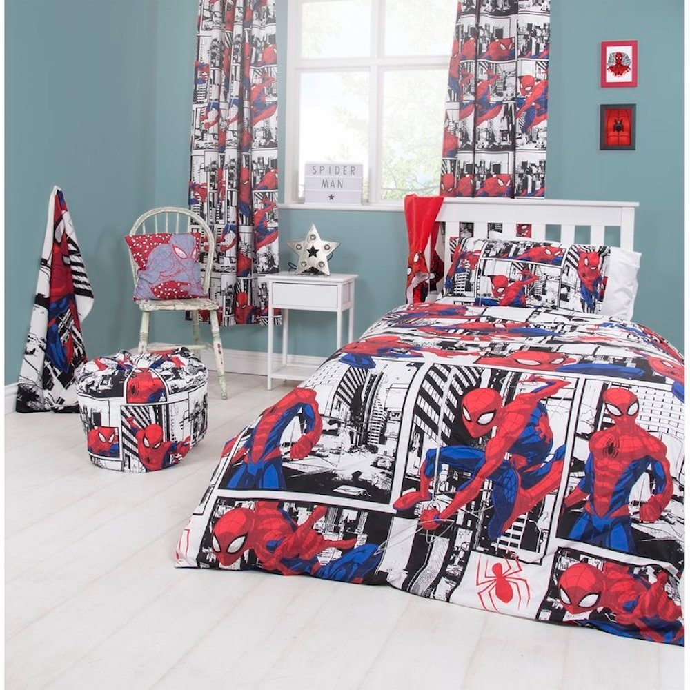 Spiderman Duvet from Wayfair Superhero inspired bedroom ideas from Wayfair