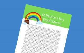 St Patrick's Day word search lead - Mykidstime