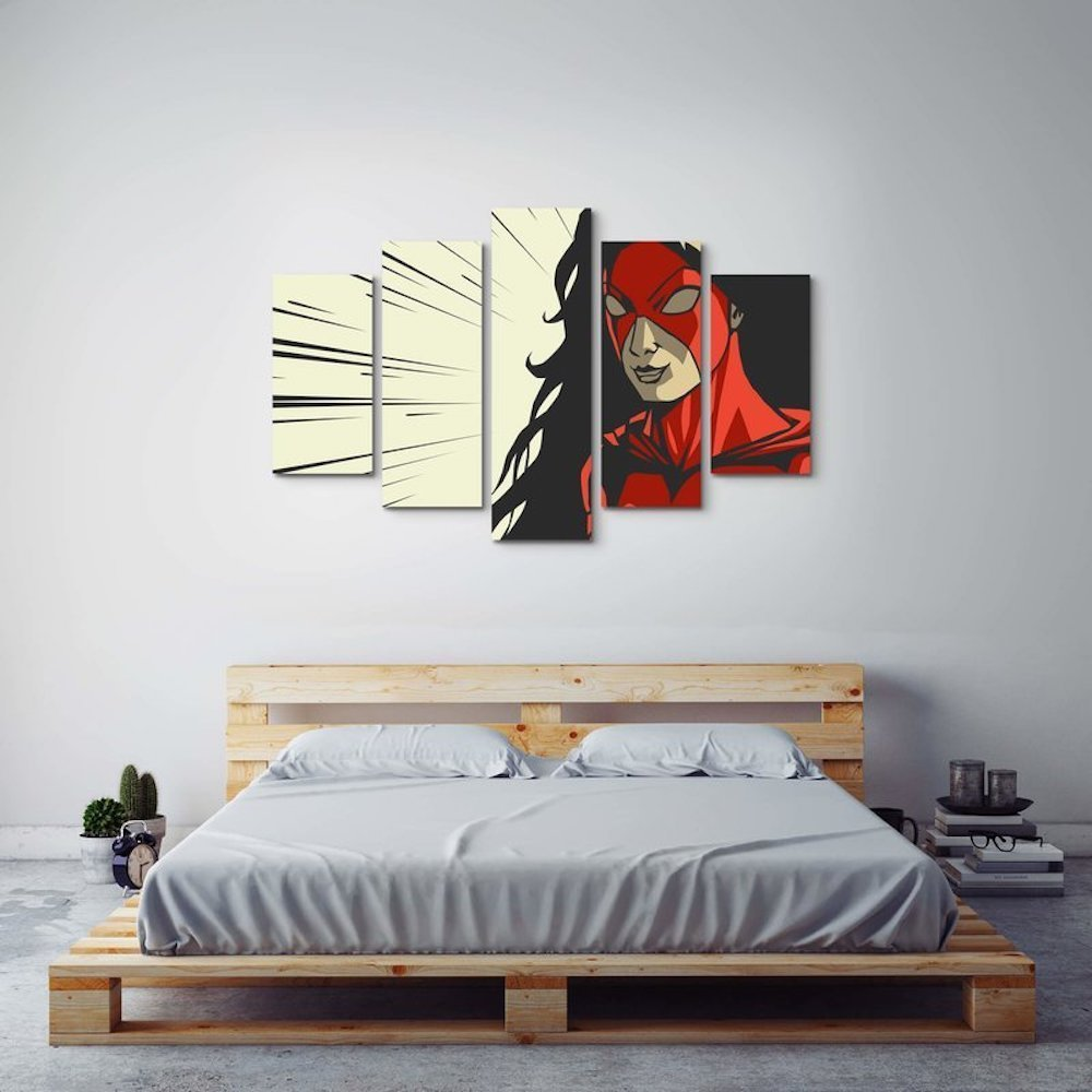 Superhero Wall Art from Wayfair Superhero inspired kids bedroom ideas