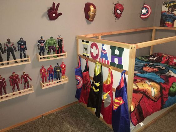 Superhero kids bedroom ideas image from hroomy