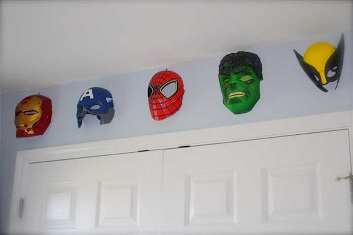 Superhero masks bollingwith5 blog Superhero inspired kids bedroom ideas