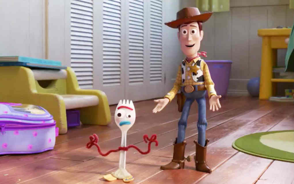 Woody and Forky in Toy Story 4 - Mykidstime