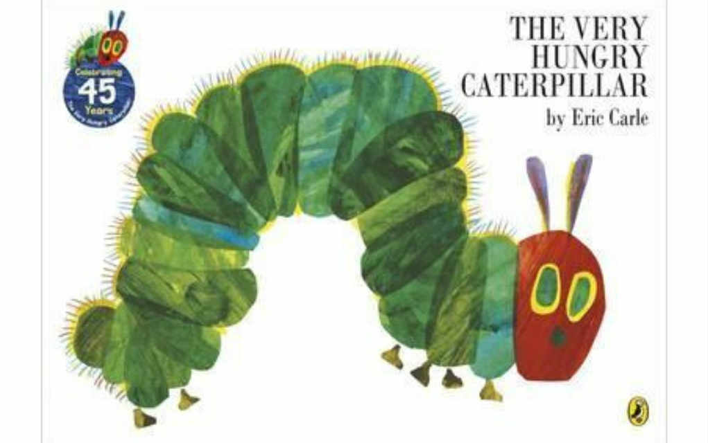 The Very Hungry Caterpillar by Eric Carle for USA Today bestseller list of books