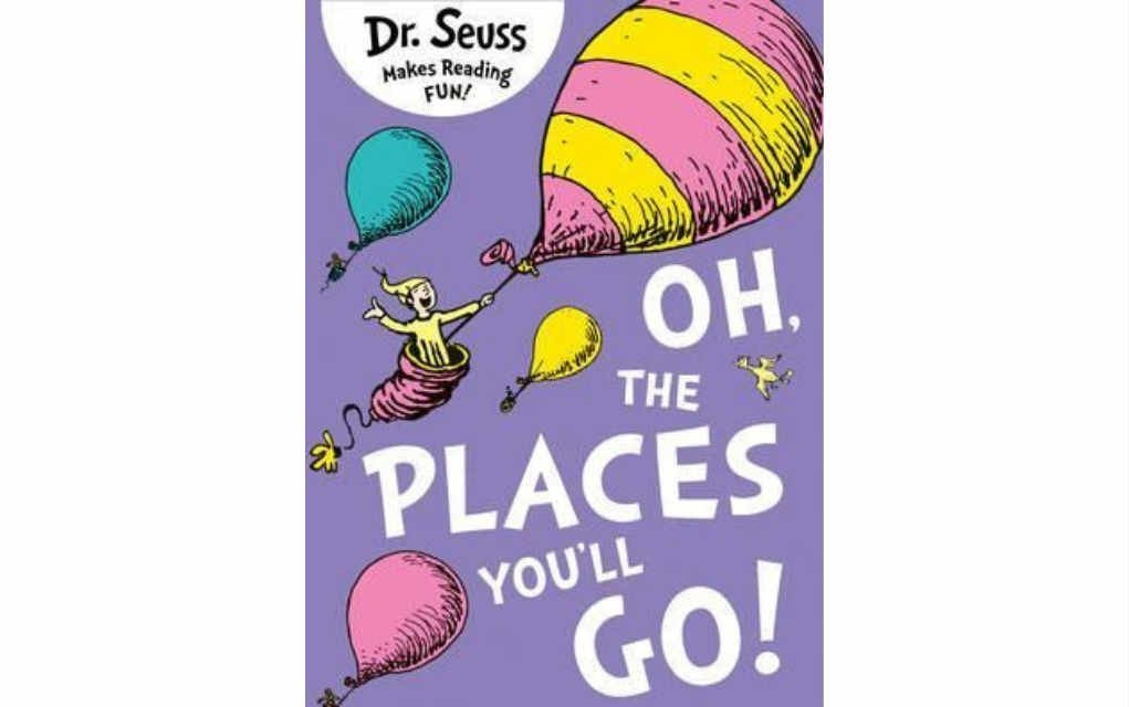 Oh the Places You'll Go by Dr Seuss for USA Today bestseller list of books