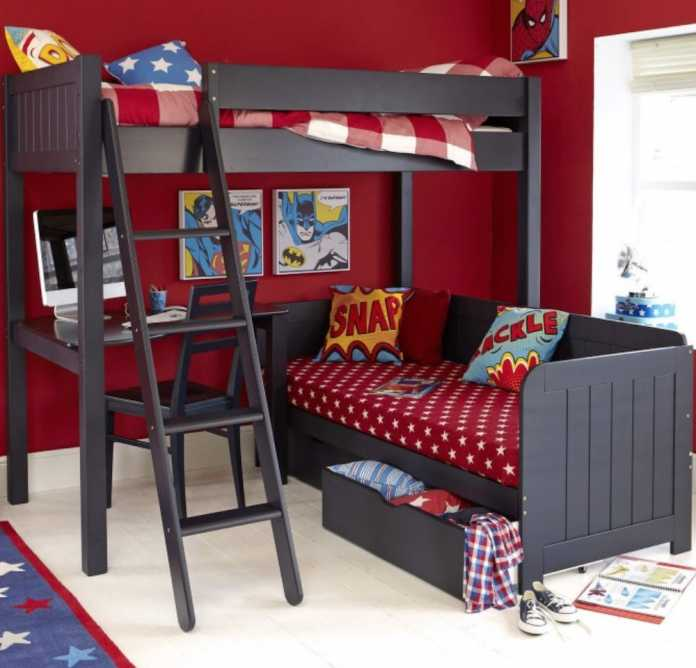Warwick sleeper Superhero bedroom ideas from aspace