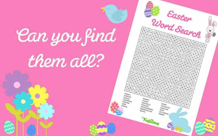 Easter word search - Mykidstime