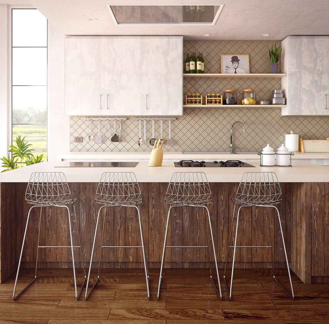 Kitchen backsplash and counter tops give your home a new look for less