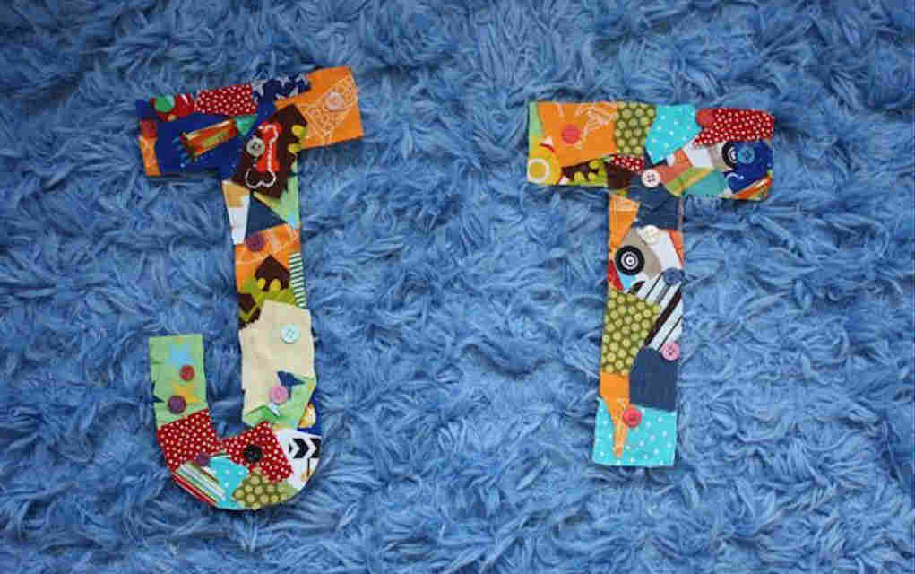 Fabric letters for fabric scrap crafts - Mykidstime