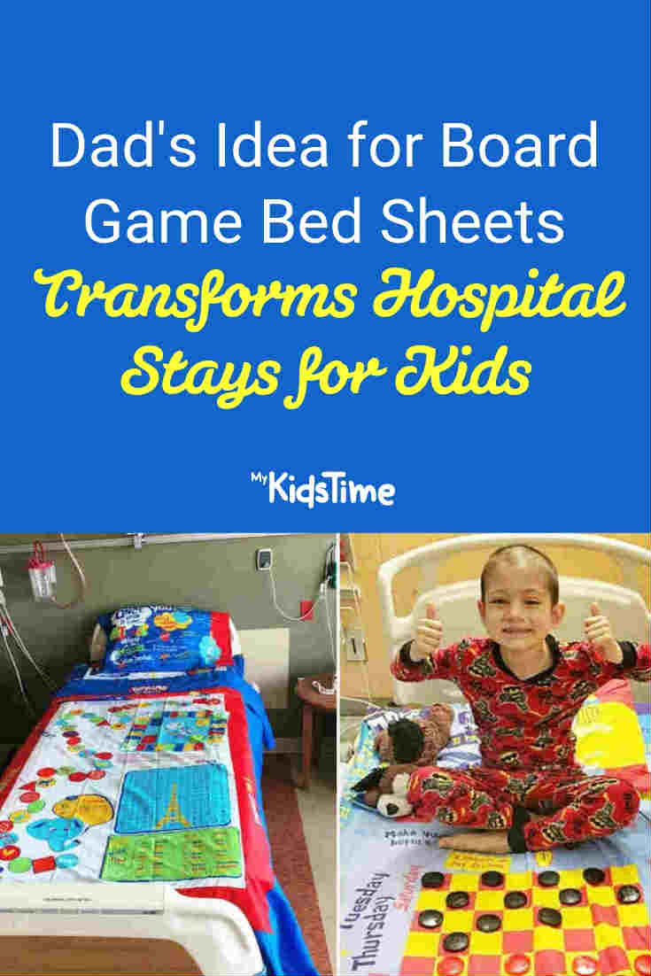 Board Game Bed Sheets Transforms Hospital Stays for Kids - Mykidstime