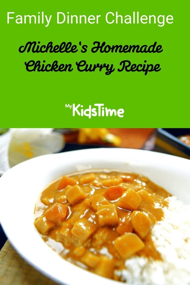 Family dinner challenge homemade chicken curry recipe