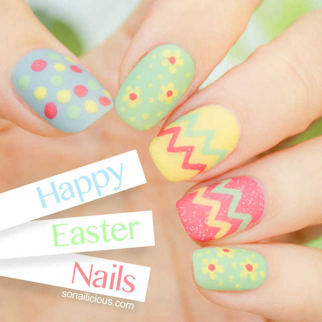 Easter Nails from So Nailicious - Mykidstime