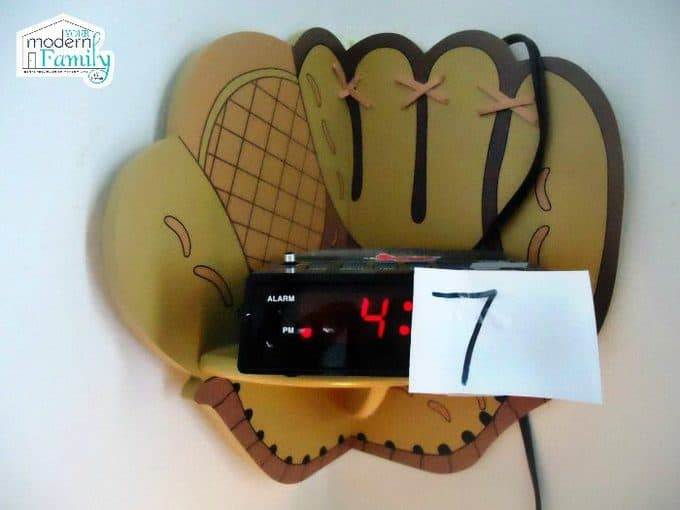 modern family tape number on alarm clock