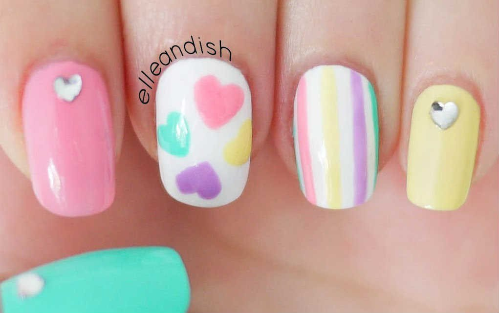 Easter nails from elleandish - Mykidstime