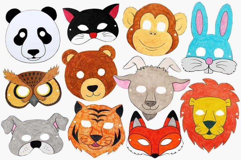 printable animal masks enchanted forest party