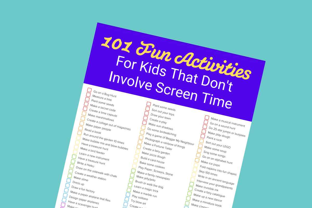 101 Fun Activities for Kids that Don't Involve Screen Time - Mykidstime