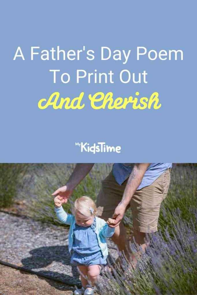 A Father's Day Poem To Print Out & Cherish