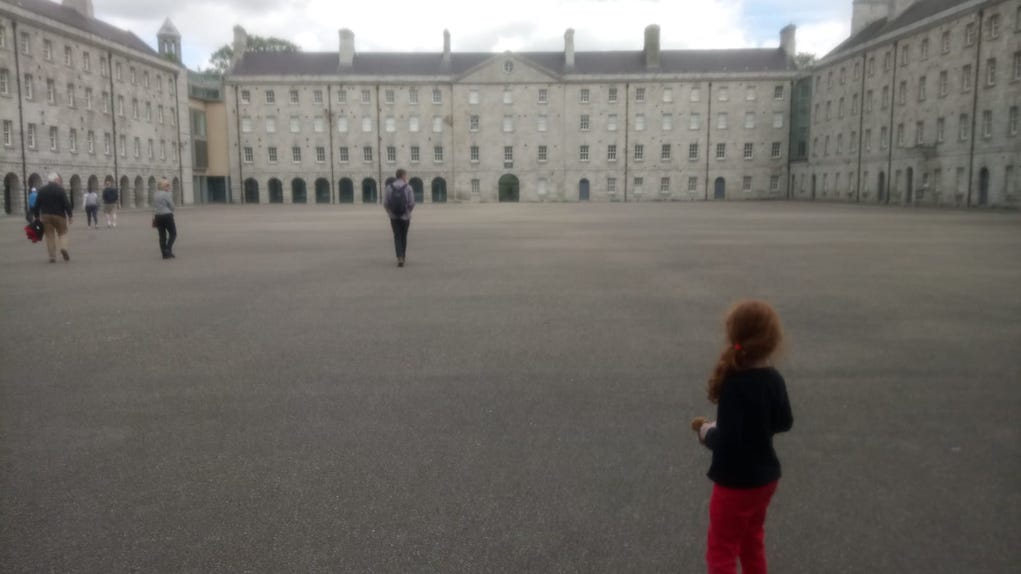 Courtyard at Collins Barracks Museum