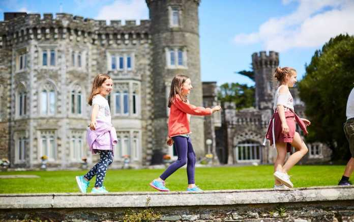 Johnstown Castle kids walking on wall fun things to do with kids in Wexford