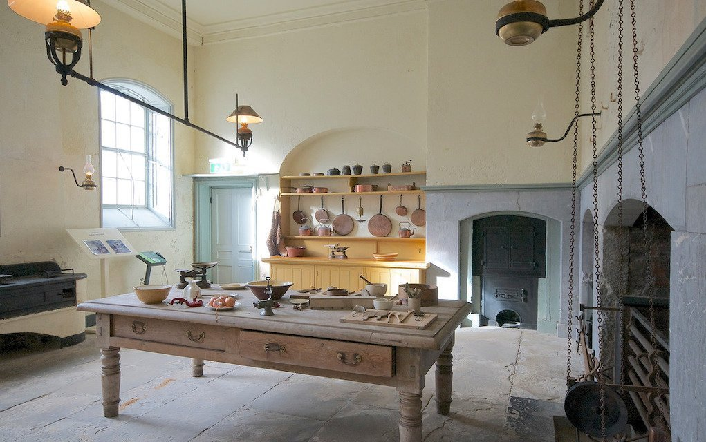 Kitchen at Fota House Cork fun things to do with kids in Cork