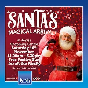 Visit Santa in Dublin at Jervis Street Shopping Centre