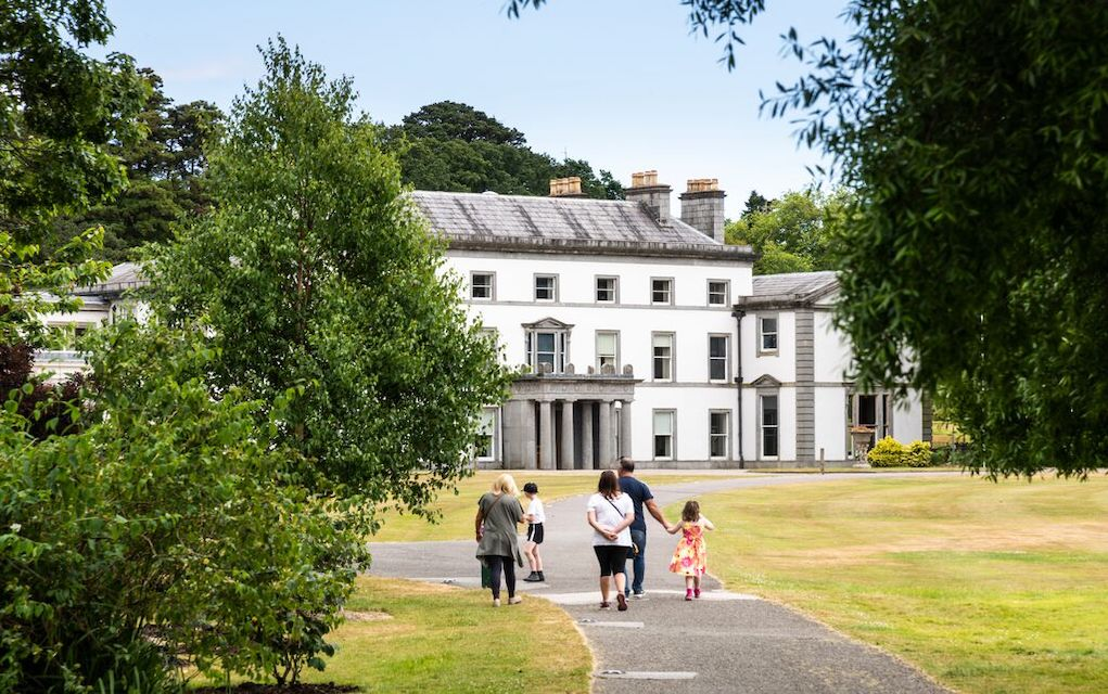 family arrive at Fota House Cork fun things to do with kids in Cork