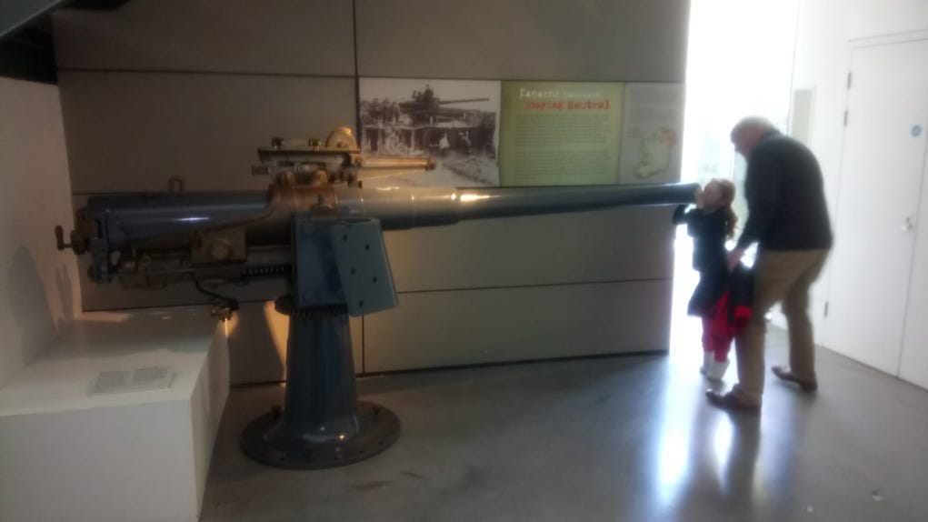 Gun at Collins Barracks Museum