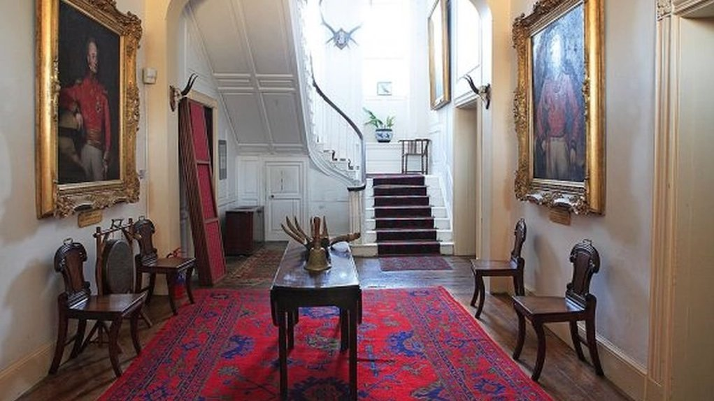 hall with antlers at Strokestown Park House fun things to do with kids in Roscommon