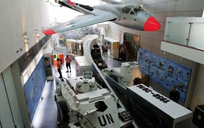 Plane and Tank at Collins Barracks Museum