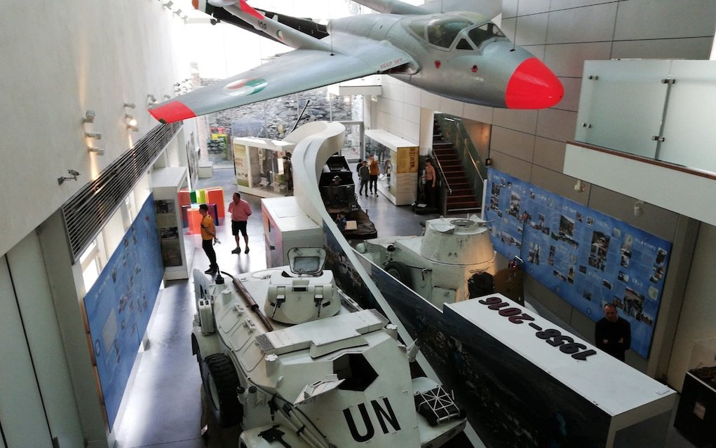 Plane and Tank at Collins Barracks Museum free day out in Dublin with the family