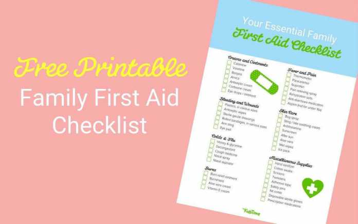 Download your free first aid kit checklist - Mykidstime