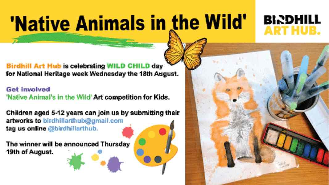 Native Animals in the Wild Competition for Heritage Week